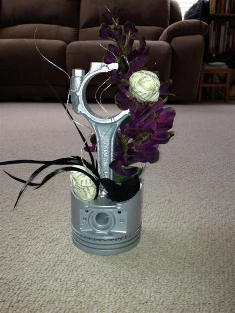 car parts centerpiece theme car creative wedding and and