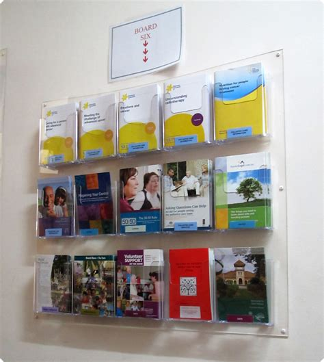 Wall Mounted Leaflet Display Racks by Wall Mounted Brochure Display Unit 8x3 Dl