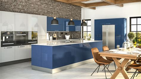 Galley Kitchen With Island Layout Modern Kitchens Glasgow Dkbglasgow Fitted Kitchens