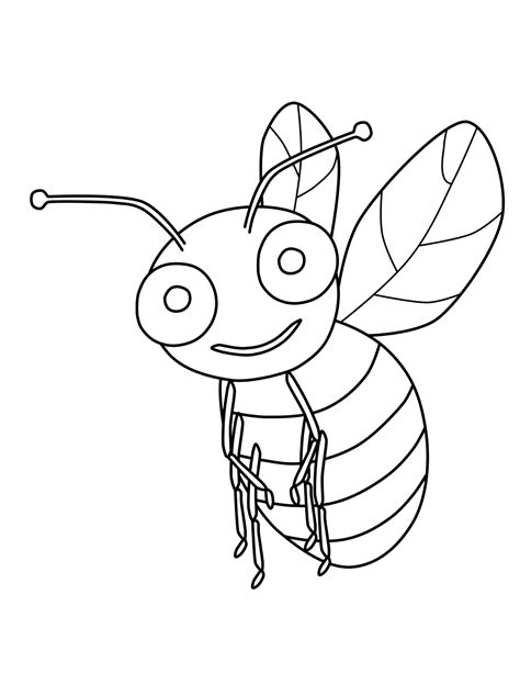 Free Printable Bumble Bee Coloring Pages For Kids Bumble Bee Coloring Pages