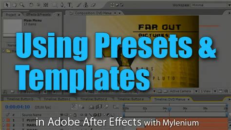 How To Use Adobe After Effects Templates using presets and templates adobe after effects tutorial