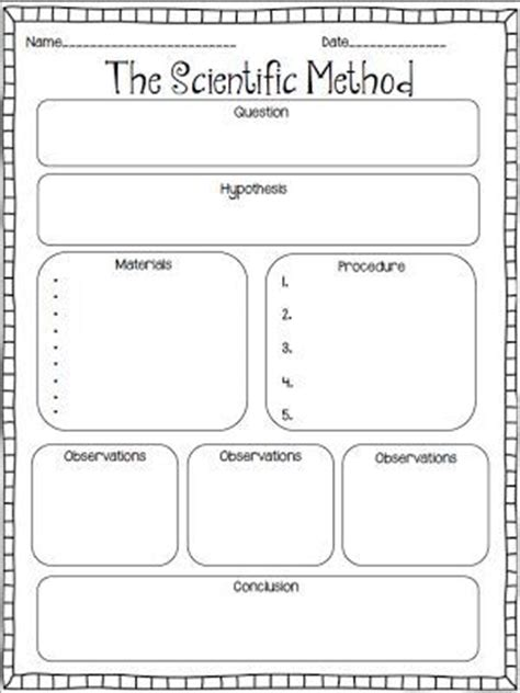 scientific method lab report template scientific method graphic organizer for creating their own experiments to solve their problem