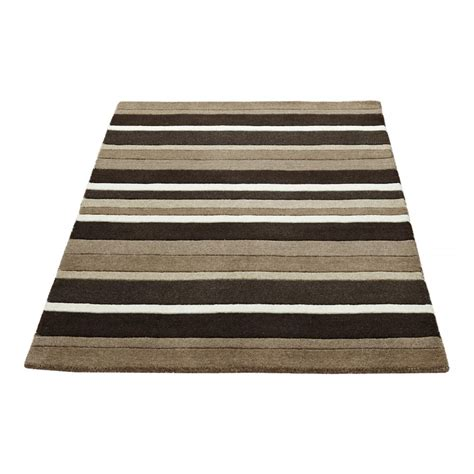 striped rug brown black striped wool rug carpet runners uk
