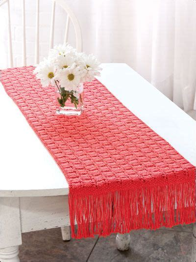 fair isle table runner home decor knitting table treatment knitting patterns