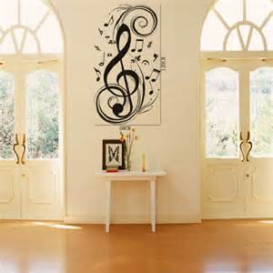 notes wall stickers decals diy vinyl removable large graphic clef tree for bedrooms trees pinterest