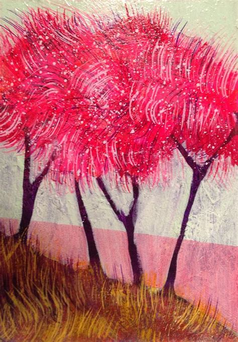 funky trees funky trees 8 painting by giannotti