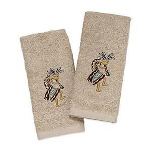 kokopelli bath towels avanti kokopelli fingertip towel in ivory set of 2
