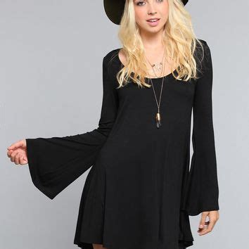Sabrina Bell Sleeve Top sabrina bell sleeve dress black from warrior epic