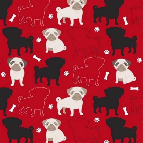 pug fleece fabric pugs dogs alover fleece fabric