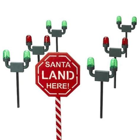 santa runway landing lights holographic display yard decorations