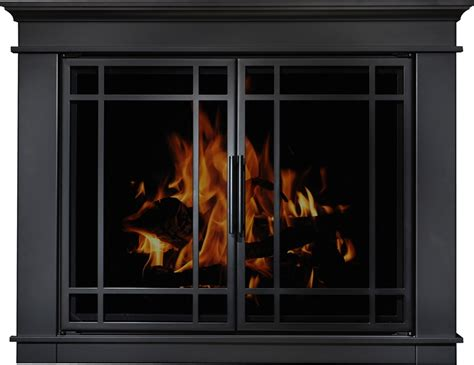 Residential Retreat Fireplace Doors by Residential Retreat Hamilton Glass Fireplace Doors