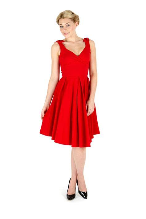 swing bridesmaid dresses ascot red classic swing dress the pretty dress company 163