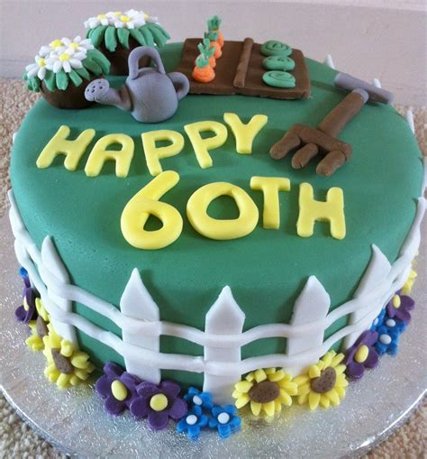 garden birthday cakes ideas 60th birthday gardening cake cakecentral