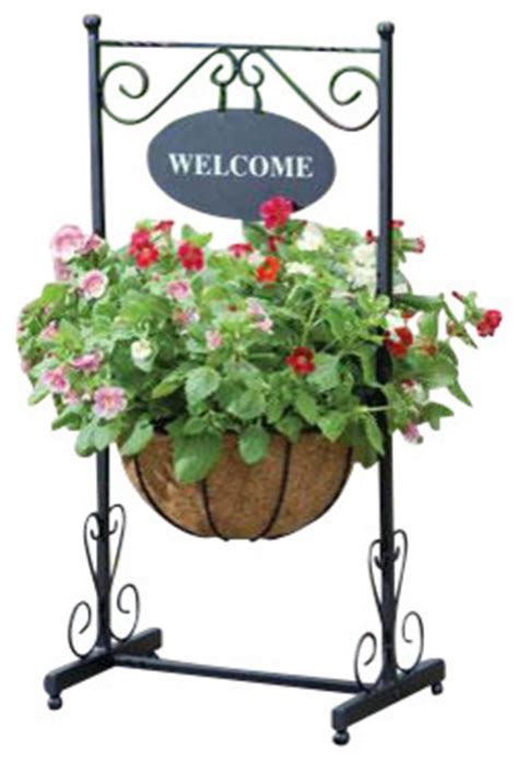 Welcome Garden Planter by Blacksmith Welcome Planter Farmhouse Outdoor Pots And