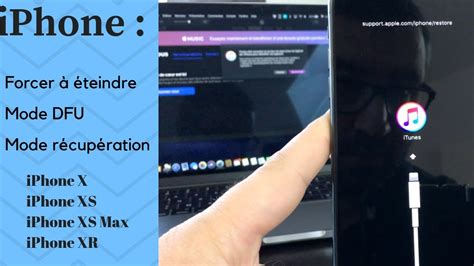iphone  xs xr forcer  eteindre  iphone plante mode recuperation  mode dfu youtube