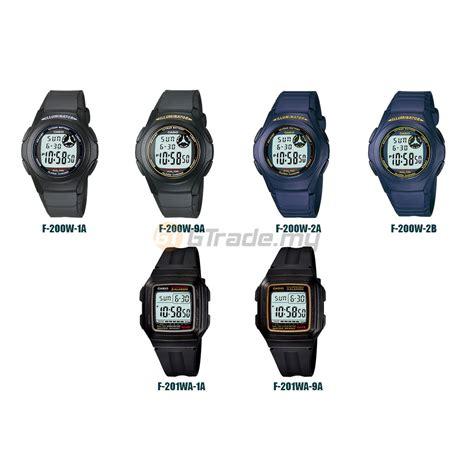 Jam Tangan Casio F 200w 2b Jam Tangan Casio F200 Jam Tangan Original casio digital jam casio ori lelaki kanak 2