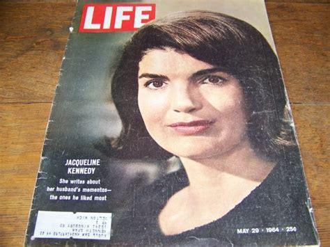 jfk biography etsy jackie kennedy life magazine may 29 1964 vintage