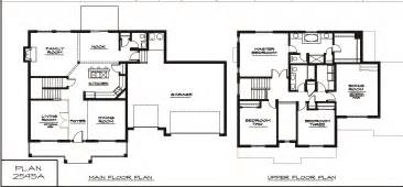 2 Floor House Plans by Modern Two Story House Floor Best Two Story House Plans