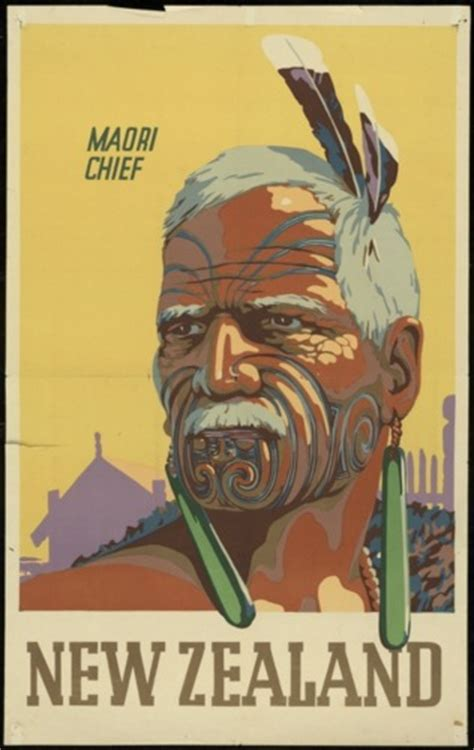 poster design nz maori chief new zealand tourism posters art and design