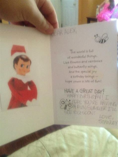 printable birthday card from elf on the shelf elf on the shelf birthday card elf on the shelf