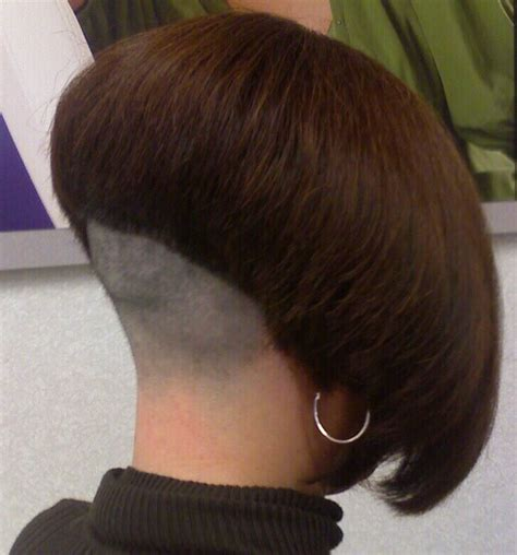 curly hair bobs with buzzed napes shaved nape angled bob is this mistress gigi flickr