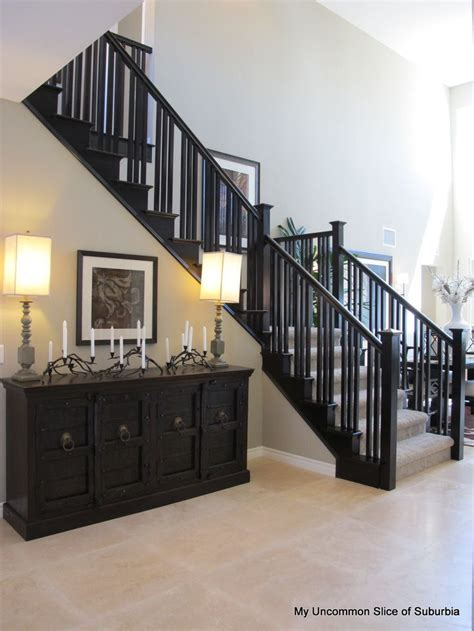 painting a banister black love this craftsman style railing stairs pinterest