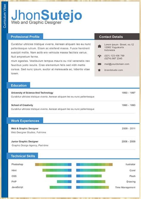 cv template by jhon sutejo cv ideas pinterest