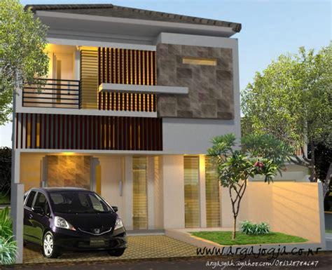 desain fasad rumah modern minimalis  lantai  argajogjas blog