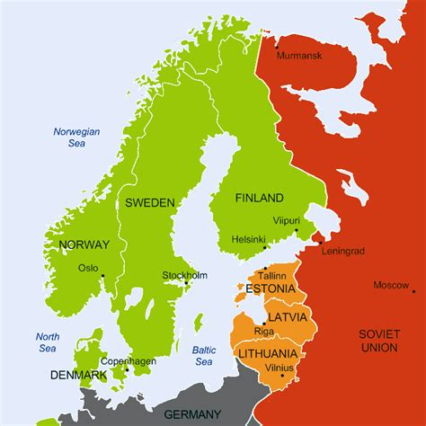 map northern europe countries sweden war map