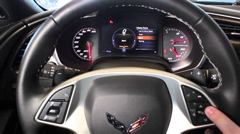 corvette dashboard linking the driver mode display with the dashboard in a