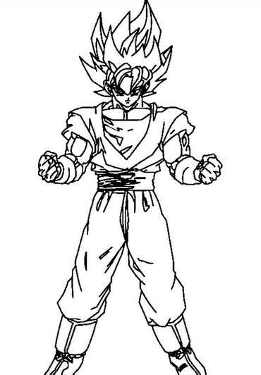 imagenes de goku sin color goku preparado para pelear dibujos de dragon ball