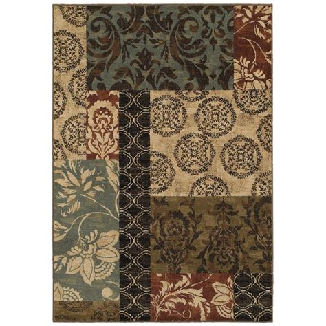 rugs home decorators collection home decorators collection finley patchwork multi 5 ft 3