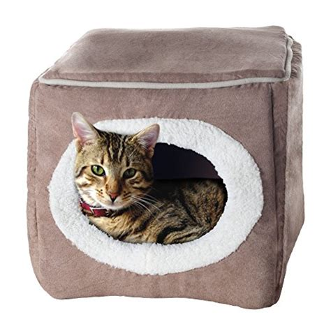covered cat bed petmaker enclosed cube pet bed animals supplies supplies