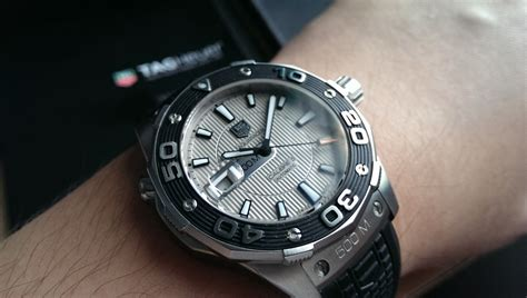 Tag Heuer Aquaracer 500m Silver White sold tag heuer aquaracer 500m calibre 5 silver black rubber 43mm waj2111 ft6015