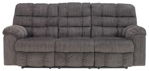 signature design  ashley acieona slate  reclining sofa  drop  table