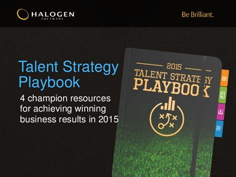 changer a playbook for winning at books talent strategy playbook