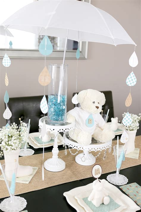 A Sweet Umbrella Themed Baby Shower Baby Shower Umbrella Centerpieces