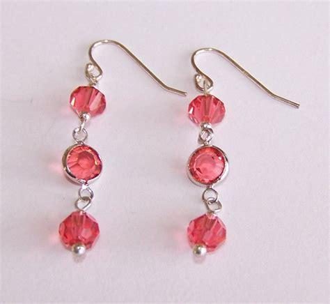 Earrings Handmade Designs - links dangle earrings handmade beaded earrings by