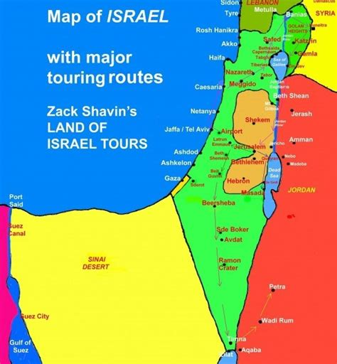 the land of israel a journal of travels in palestine undertaken with special reference to its physical character classic reprint books map of israel general touring routes