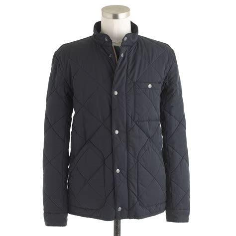 Quilted Clothing by J Crew Sussex Quilted Jacket In Blue For Vintage Navy Lyst