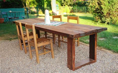 come costruire un tavolo da giardino un maxi tavolo in legno di recupero cose di casa