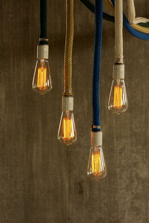 pendant light chandelier lighting rope light cage by