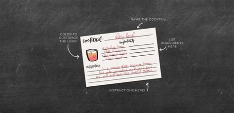 cocktail recipe cards freebie cocktail recipe cards