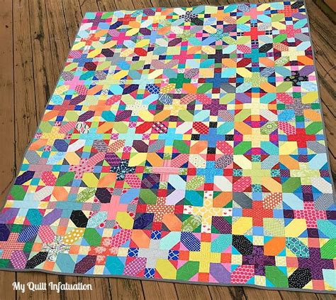 Scrappy X Plus Quilt Tutorial Favequilts Com How To Use Quilting Templates