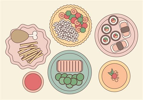 food vector vector plated food illustration download free vector art