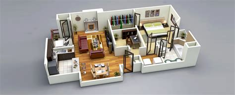 3d home decor design 25 one bedroom house apartment plans