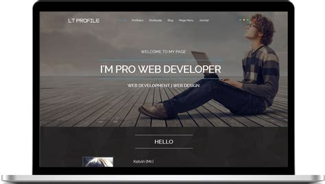 Lt Profile Free One Page Responsive Resume Cv Profile Joomla Template Responsive Joomla Single Page Portfolio Template Free