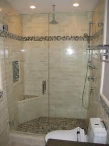 Tile shower glass tile accent powder room ideas contemporary bathroom