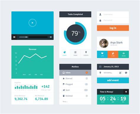 web layout ui kit 14 free app and web design gui kits
