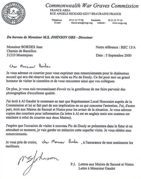 Lettre De Remerciement L Histoire Du Maquis De Nistos Esparros